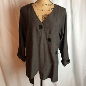Blanque Lagenlook Asymmetrical Top